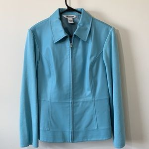 Gorgeous part leather jacket like new condition